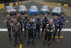 V8SUPERCARS: Craig Lowndes, Jamie Whincup, James Moffat, Rick Kelly, Scott McLaughlin, Robert Dahlgren, Will Davison, Lee Holdsworth, Mark Winterbottom and Chaz Mostert