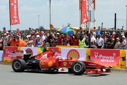 Marc Gene, Ferrari Test Driver in the streets of Johannesburg