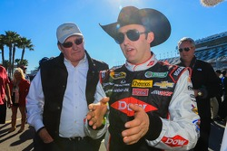 Austin Dillon, Richard Childress Racing Chevrolet celebrates with Richard Childress
