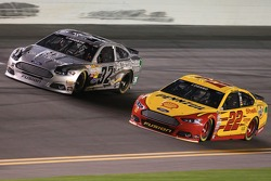 Terry Labonte, FAS Lane Racing Ford and Joey Logano, Team Penske Ford
