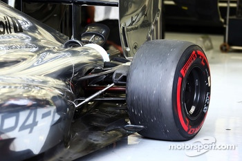McLaren MP4-29 rear suspension detail