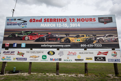 Road sign for the 2014 Sebring 12 Hours