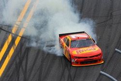 Regan Smith celebrates