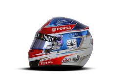 The helmet of Romain Grosjean, Lotus F1 Team