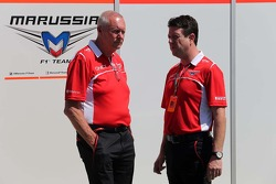 John Booth, Marussia F1 Team Team Principal and Dave O'Neill, Marussia F1 Team Manager  13