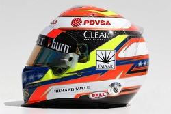 The helmet of Pastor Maldonado, Lotus F1 Team