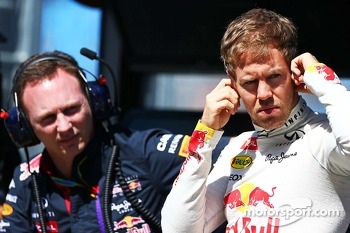 (L to R): Christian Horner, Red Bull Racing Team Principal and Sebastian Vettel, Red Bull Racing