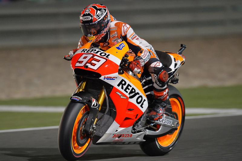 Marc Marquez, Repsol Honda Team op Qatar GP - MotoGP foto's