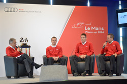 Marcel Fässler, Andre Lotterer and Benoit Tréluyer