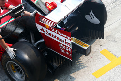 Kimi Raikkonen, Ferrari F14-T rear wing detail