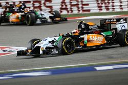 Sergio Perez, Sahara Force India and Nico Hulkenberg, Sahara Force India  06