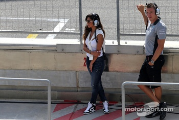 Nicole Scherzinger, Singer and girlfriend of Lewis Hamilton, Mercedes AMG F1 09