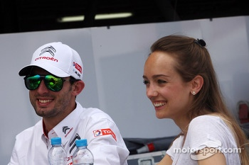Jose Maria Lopez, Citroën C-Elysee WTCC, Citroën Total WTCC and his wife