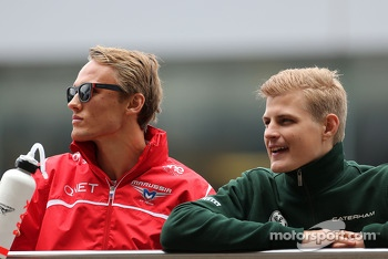 Max Chilton, Marussia F1 Team and Marcus Ericsson, Caterham F1 Team