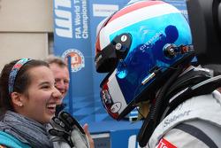 Yvan Muller, Citroën C-Elysee WTCC, Citroën Total WTCC race winner with his daughter
