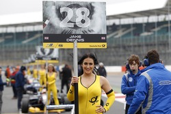 Grid girl of Jake Dennis