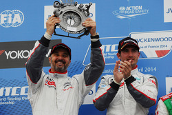 Race winner Jose Maria Lopez, Citroën C-Elysee WTCC, Citroën Total WTCC and second place Yvan Muller, Citroën C-Elysee WTCC, Citroën Total WTCC