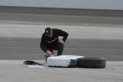 Painting the tire markers