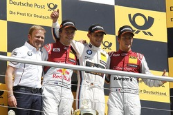 Podium: race winner Marco Wittman, second place Mattias Ekström, third place Adrien Tambay