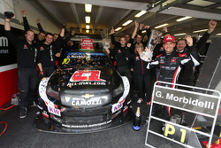 Celebration, Gianni Morbidelli, Chevrolet RML Cruze TC1, ALL-INKL_COM Munnich Motorsport race winner with his team