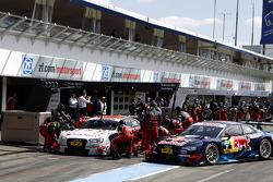 Pitstop, Edoardo Mortara, Audi Sport Team Abt Audi RS 5 DTM and Mattias Ekstroem, Audi Sport Team Abt Sportsline, Audi A5 DTM