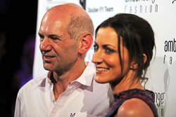 F1: Adrian Newey, Red Bull Racing Chief Technical Officer with his partner Amanda Smerczak at the Amber Lounge Fashion Show