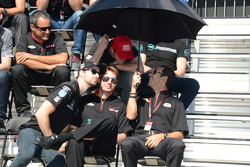 James Hinchcliffe, Will Power and Helio Castroneves