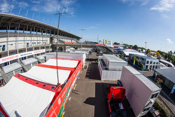 Le Mans paddock overview: AF Corse paddock