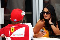 Kimi Raikkonen, Ferrari with his girlfriend Minttu Virtanen (FIN)