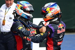 F1: 3rd place Sebastian Vettel, Red Bull Racing with 1st place Daniel Ricciardo, Red Bull Racing RB10