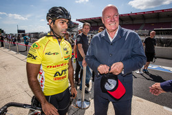 Jean-Claude Biver from LVMH with Karun Chandhok