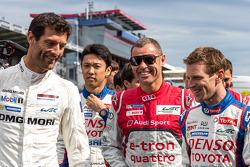 LMP1 drivers Mark Webber, Kazuki Nakajima, Tom Kristensen, Anthony Davidson