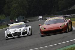 #21 Bamd Ferrari 458 Challenge: Darren Nelson, Nigel Greensall #21 Simpson Motorsport Audi R8 LMS GT3: Peter Cook, Frank Pelle