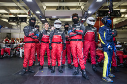 Audi Sport Team Joest team members ready for next pit stop