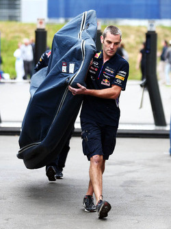 A new Red Bull Racing RB10 floor delivered to the paddock