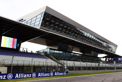 The Media Centre above the grandstand on the start / finish straight
