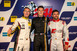 Pole winner Kevin Estre with second place Maxime Martin and third place Christian Mamerow