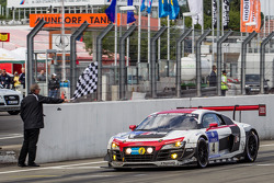 #4 Phoenix Racing Audi R8 LMS ultra: Christopher Haase, Christian Mamerow, René Rast, Markus Winkelhock takes the checkered flag to win the race