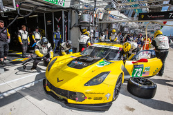 LEMANS: Pit stop for #73 Corvette Racing Chevrolet Corvette C7: Jan Magnussen, Antonio Garcia, Jordan Taylor