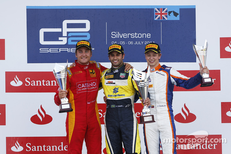 Podium: race winner Felipe Nasr, second place Stefano Coletti, third place Johnny Cecotto