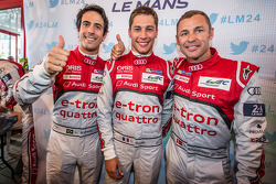 Lucas Di Grassi, Loic Duval and Tom Kristensen