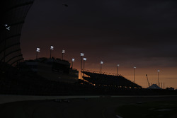 The sun sets over Iowa Speedway