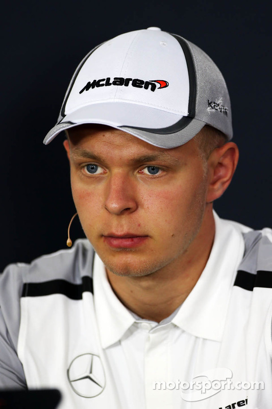 Kevin Magnussen, McLaren in the FIA Press Conference