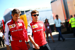 (L to R): Massimo Rivola, Ferrari Sporting Director with Fernando Alonso, Ferrari