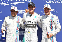 Polesitter Nico Rosberg, second place Valtteri Bottas, third place Felipe Massa