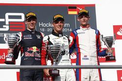 Podium: race winner Marvin Kirchhofer, second place Alex Lynn, third place Emil Bernstorff