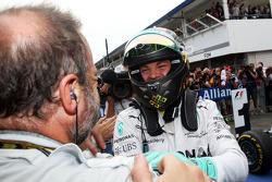 Race winner Nico Rosberg, Mercedes AMG F1 celebrates in parc ferme