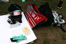 The race kit of Nico Rosberg, Mercedes AMG F1 on the grid