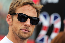 F1: Jenson Button, McLaren on the grid