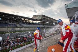 GTE celebrations on the podium